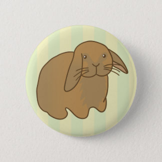 Cute Brown Bunny Button