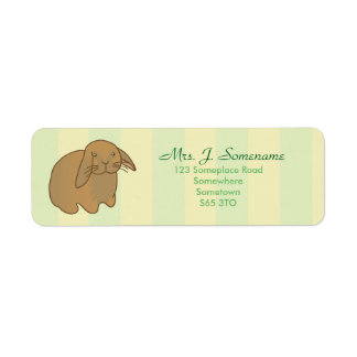 Cute Brown Bunny Label