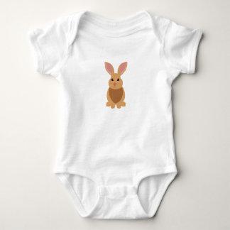 Cute Brown Bunny Rabbit Infant Baby Bodysuit