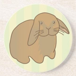 Cute Brown Bunny Sandstone Coaster