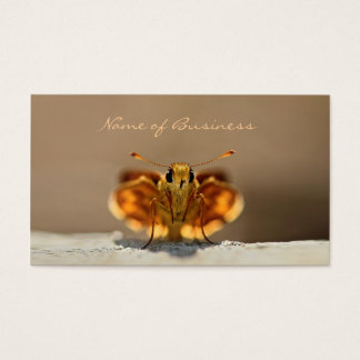 Cute Brown Butterfly With Business Name Business Card