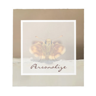 Cute Brown Butterfly With Name Memo Note Pad