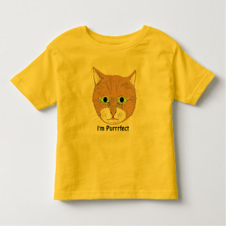 Cute brown cat and 'I'm Purrrfect' Toddler T-shirt