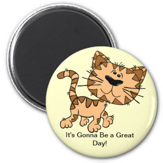 Cute Brown Cat Great Day Magnet