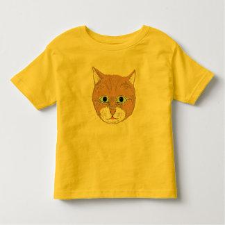 Cute brown cat toddler t-shirt
