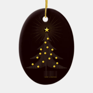 Cute Brown Christmas Tree Ornament
