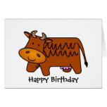Cute Brown Cow Greeting Cards