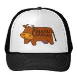 Cute Brown Cow Hat