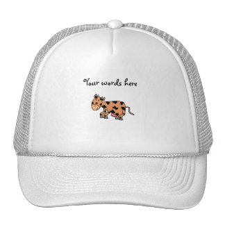 Cute brown cow trucker hat