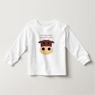 Cute brown cow kid's t-shirt