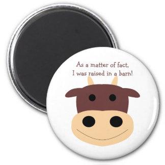Cute brown cow magnet