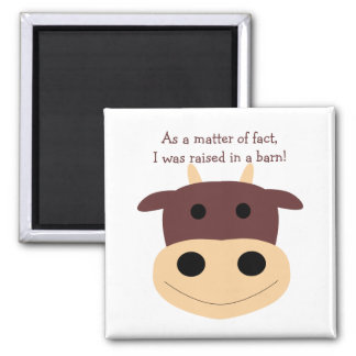 Cute brown cow magnets
