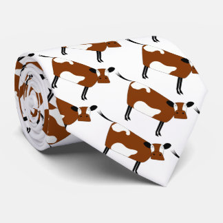 Cute brown cow neck tie