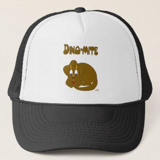 Cute Brown Dinosaur Dino-mite Trucker Hat