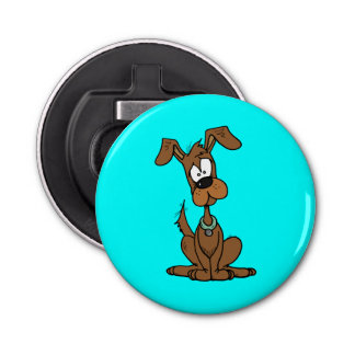 Cute Brown Dog Bottle Opener