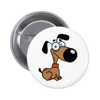 Cute Brown Dog Button