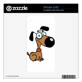 Cute Brown Dog iPhone 4 Skins