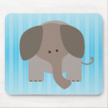 Cute Brown Elephant Mouse Pad