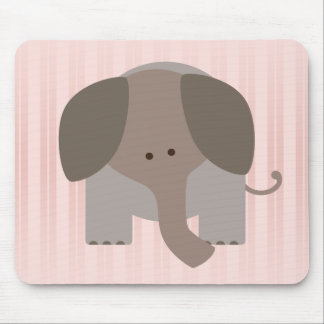 Cute Brown Elephant Mousepads