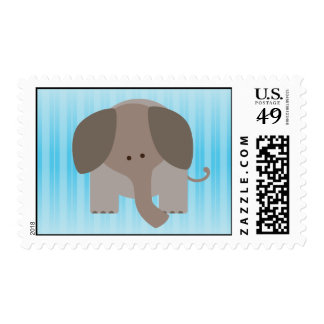 Cute Brown Elephant Postage Stamp