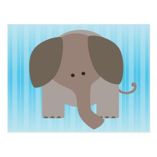 Cute Brown Elephant Postcard