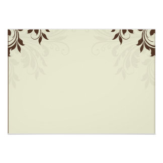 Cute Brown floral wedding gift Posters
