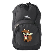 Cute Brown Fox Backpack