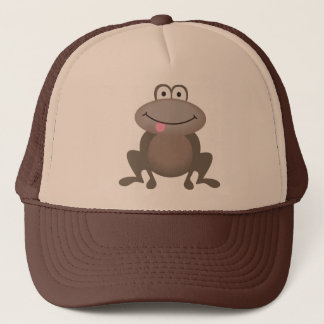 Cute Brown Frog Trucker Hat