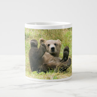 Cute brown grizzly bear cub beautiful photo, gift large coffee mug
