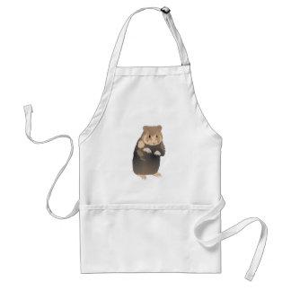 cute brown hamster adult apron