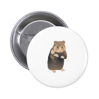 cute brown hamster 2 inch round button