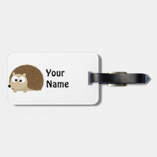 Cute Brown Hedgehog Bag Tag
