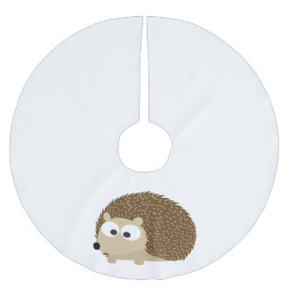 Cute Brown Hedgehog Brushed Polyester Tree Skirt
