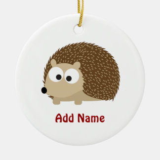 Cute Brown Hedgehog Ceramic Ornament