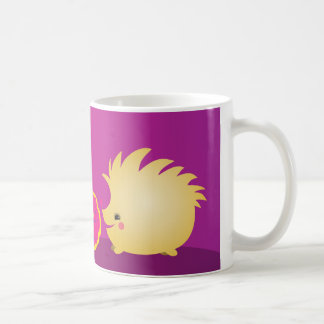 cute brown hedgehog coffee mug