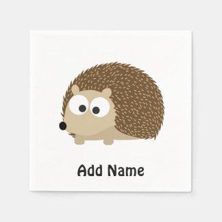 Cute Brown Hedgehog Napkin