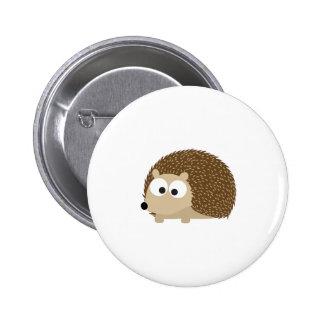 Cute Brown Hedgehog Pinback Button