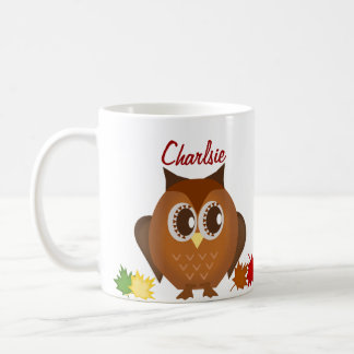 Cute Brown Hoot Owl Mug