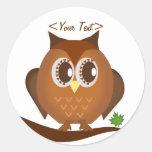 Cute Brown Hoot Owl Sticker