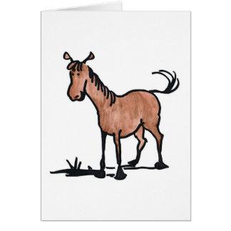 Cute Brown Horse Card