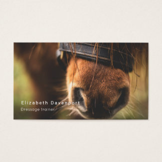 Cute Brown Horse Nose Business Card