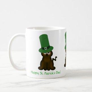 Cute Brown Kitty St. Patricks Day Mug mug
