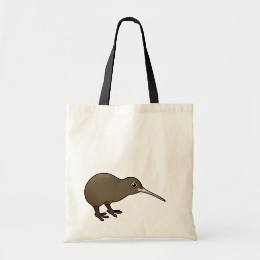 Cute Brown Kiwi from New Zealand Canvas Bags