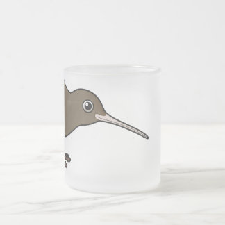 Cute Brown Kiwi from New Zealand Frosted Glass Coffee Mug