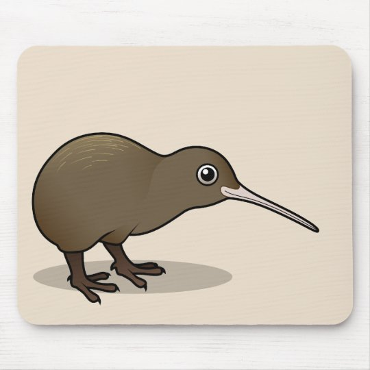 Cute Brown Kiwi from New Zealand Mouse Pad