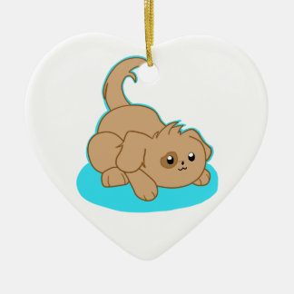 Cute Brown Mix Christmas Ornaments