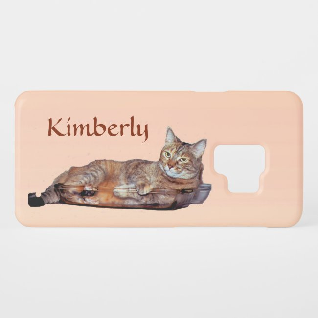 Cute Brown Orange Tabby Cat Galaxy S9 Case