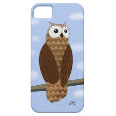 Cute Brown Owl Blue Sky Iphone 5s Case at Zazzle