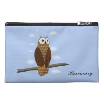 Cute Brown Owl Blue Sky Travel Bag Travel Accessory Bag at  Zazzle