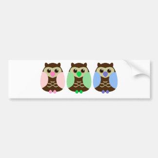 Cute Brown Owl Bumper Sticker